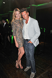 PERCY PARKER and CAROLINE MONGEAU at a party to launch the Dom Perignon Luminous label held at No.1 Mayfair, London on 24th May 2011.