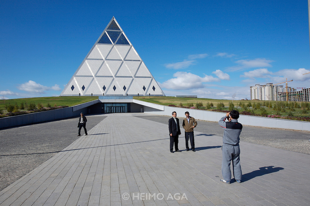 The pyramid-shaped Palace of Peace & Harmony by star architect Sir Norman Foster.