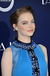 Emma Stone at the Los Angeles premiere of 'La La Land' held at the Mann Village Theatre in Westwood, USA on December 6, 2016.