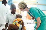 004, Ema Andre, Female, 4 years old, UCL, After, Post Op, Pediatrician Samantha Jackson Dilts of USA,   Operation Smile Inaugural Mission to Beira, Mozambique. 6th June - 15th June 2014. Macuti Hospital. Beira Mozambique.<br /><br />(Operation Smile Photo - Zute Lightfoot)