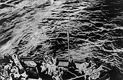 Titanic survivors on way to rescue ship Carpathia Date Created/Published: 1912 April. Medium: 1 photographic print. Summary: Group of people in a lifeboat.