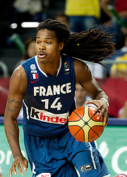 Mickael Gelabale of France during  the eight-final basketball match between National teams of Turkey and France at 2010 FIBA World Championships on September 5, 2010 at the Sinan Erdem Dome in Istanbul, Turkey. (Photo By Vid Ponikvar / Sportida.com)