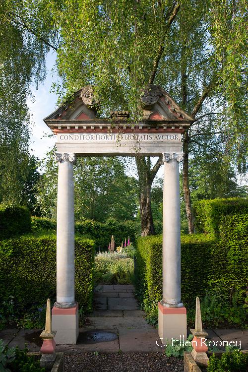 The Triumphal Arch in the Laskett Gardens, Much Birch, Herefordshire, UK