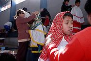 Bolivia. Tarija. San Roque..Preparing for the parade
