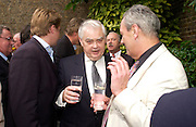 Norman Lamont. Spectator party. Doughty St. London. 28 July 2005. ONE TIME USE ONLY - DO NOT ARCHIVE  © Copyright Photograph by Dafydd Jones 66 Stockwell Park Rd. London SW9 0DA Tel 020 7733 0108 www.dafjones.com