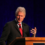 Keynote Speaker Former President Bill Clinton addresses the audience at Senator Coons Third annual Opportunity Africa conference Monday, Mar 10, 2014 at Chase Center on the Riverfront in Wilmington Delaware