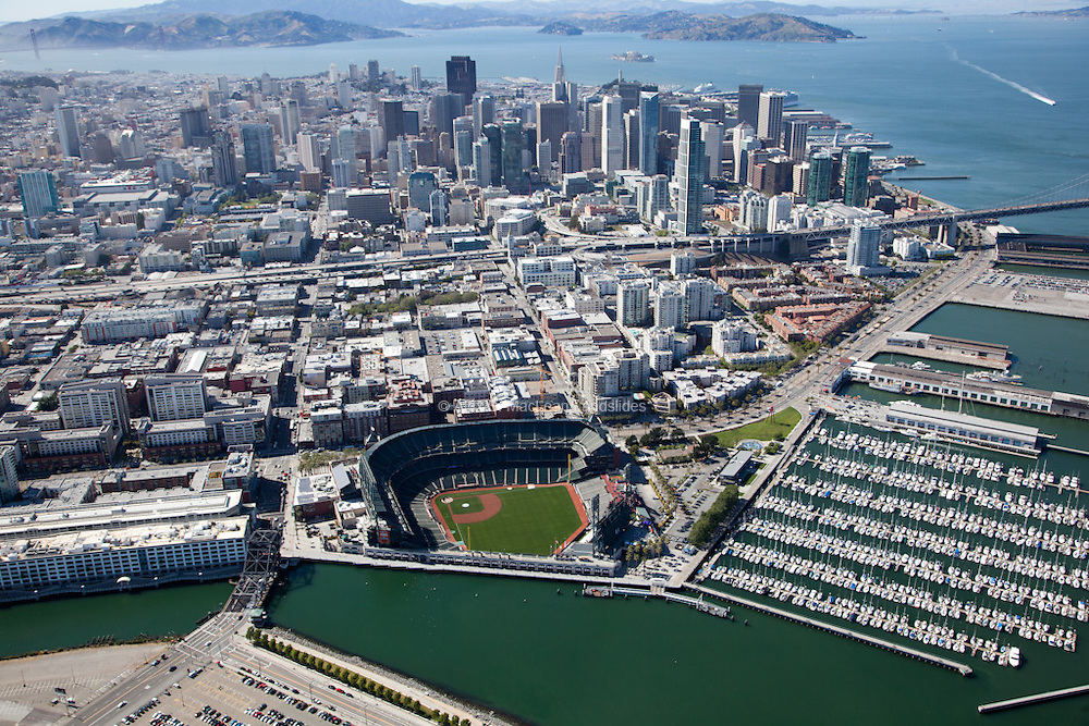 AT&T Park south of downtown