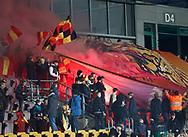 FODBOLD: FC Nordsjælland fans før kampen i ALKA Superligaen mellem FC Nordsjælland og Lyngby Boldklub den 31. marts 2017 i Farum Park, København. Foto: Claus Birch