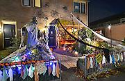 Nederland, Nijmegen, 27-10-2015Halloween tuin in de Dukenburg, een buitenwijk van de stad..FOTO: FLIP FRANSSEN/ HH