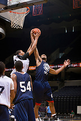 WF Ari Stewart (Marietta, GA / Wheeler) and WF Shawn Williams (Duncanville, TX / Duncanville) battle for a rebound.  The NBA Player's Association held their annual Top 100 basketball camp at the John Paul Jones Arena on the Grounds of the University of Virginia in Charlottesville, VA on June 20, 2008