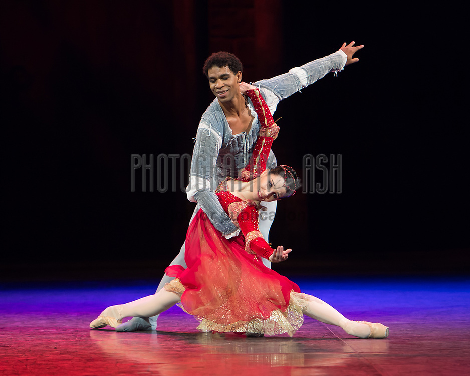 Carlos Acosta & Tamara Rojo during the dress rehearsal for English National Ballet's Romeo & Juliet at The Royal Albert Hall, London on June 10, 2014. Photo: Arnaud Stephenson