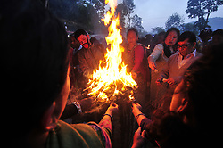April 26, 2017 - Kathmandu, Nepal - In Nepal, Mother's day or Matatritha Aunshi is celebrated on Baishak Krishna Aunshi according to Lunar calendar. On this auspicious day, people pay homage to their mothers giving her gifts and foods including sweets and fruits. (Credit Image: © Narayan Maharjan/Pacific Press via ZUMA Wire)