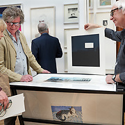 People at a print fair at the Royal Academy of Art in London, United Kingdom.