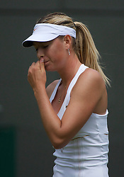 LONDON, ENGLAND - Friday, June 24, 2011: Maria Sharapova (RUS) looks dejected during the Ladies' Singles 2nd Round match on day five of the Wimbledon Lawn Tennis Championships at the All England Lawn Tennis and Croquet Club. (Pic by David Rawcliffe/Propaganda)