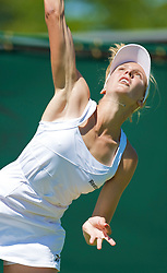 LONDON, ENGLAND - Tuesday, June 23, 2009: A very thin looking Nicole Vaidisova (CZE) during her Ladies' Singles 1st Round defeat on day two of the Wimbledon Lawn Tennis Championships at the All England Lawn Tennis and Croquet Club. (Pic by David Rawcliffe/Propaganda)