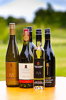 A selection of wines, Villa Maria Estate Winery, Mangere, near Auckland, North Island, New Zealand