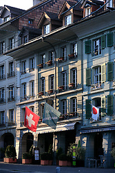 SWITZERLAND BERN 1MAR12 - Hotels and shops at Gerechtigkeitsgasse in Bern city centre, Switzerland.....jre/Photo by Jiri Rezac....© Jiri Rezac 2012