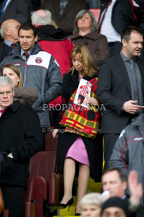 SHEFFIELD, ENGLAND - Saturday, March 17, 2012: Tranmere Rovers' Director Lorraine Rogers during the Football League One match against Sheffield United at Bramall Lane. (Pic by David Rawcliffe/Propaganda)