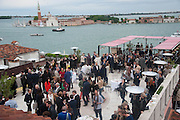PARTY ON THE 7TH FLOOR  TERRACE, Absolut Art Bureau cocktails and dinner to celebrate the announcement of the 2013 Absolut Art Award shortlist. Bauer Hotel, San Marco. Venice. Venice Bienalle. 28 May 2013