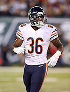 Chicago Bears defensive back Ahmad Dixon (36) goes in motion during the NFL week 3 regular season football game against the New York Jets on Monday, Sept. 22, 2014 in East Rutherford, N.J. The Bears won the game 27-19. ©Paul Anthony Spinelli