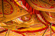 Colourful fabrics overhead provide delicious shade from the days heat, Jaipur, India. <br /> <br /> Nikon 1 V3  17.1mm  ISO 400  f5.6  1/320s