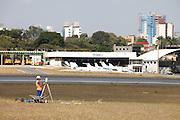 Belo Horizonte_MG, Brasil.<br /> <br /> Obras no Aeroporto da Pampulha em Belo Horizonte, Minas Gerais.<br /> <br /> Works in Pampulha aerport in Belo Horizonte, Minas Gerais.<br />  <br /> Foto: JOAO MARCOS ROSA / NITRO