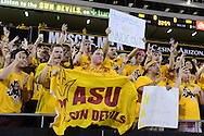 TEMPE, AZ - SEPTEMBER 03:  Arizona State Sun Devils fans cheer prior to the game between the Northern Arizona Lumberjacks and Arizona State Sun Devils at Sun Devil Stadium on September 3, 2016 in Tempe, Arizona.  (Photo by Jennifer Stewart/Getty Images)