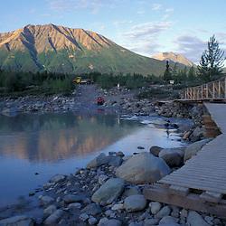The footbridge leading to McCarthy, AK and Wrangell-St. Elias N.P.