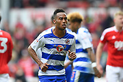 Reading midfielder Jordan Obita (11) during the EFL Sky Bet Championship match between Nottingham Forest and Reading at the City Ground, Nottingham, England on 22 April 2017. Photo by Jon Hobley.