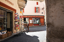There's little doubt that you are deep into Provence when you come upon this creperie/souvenir scene in St.  Remy.