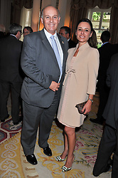LUIS & MARTA JUSTE he is Director of Santander Universities UK at a reception hosted by the Spanish Ambassador for the Anglo-Spanish Society at The Spanish Embassy, Belgrave Square, London on 29th June 2011.