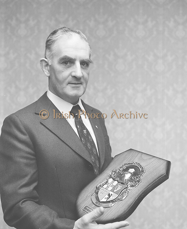 G.A.A. Personality of Month Award..04.02.1974  4th February 1974
