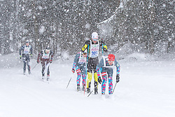 26.01.2019, Bad Mitterndorf, AUT, 40. Internationaler Steiralauf, 30 km Klassische Technik, im Bild die Spitzengruppe, angeführt vom späteren Sieger Markus Dankl (AUT) // during the 40th international Steiralauf 30 km Classic in Bad Mitterndorf, Austria on 2019/01/26. EXPA Pictures © 2019, PhotoCredit: EXPA/ Martin Huber