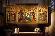 Europa, Deutschland, Koeln, der Altar der Stadtpatrone im Dom, gebaut von Stefan Lochner um 1443.<br /> <br /> Europe, Germany, Cologne, altar of the town patrons in the cathedral, built by Stefan Lochner around 1443 AD.