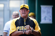 PITTSBURGH, PA - JUNE 30: Pittsburgh Pirates manager Clint Hurdle looks on against the Milwaukee Brewers during the game at PNC Park on June 30, 2013 in Pittsburgh, Pennsylvania. The Pirates won 2-1 in 14 innings. (Photo by Joe Robbins)  Clint Hurdle