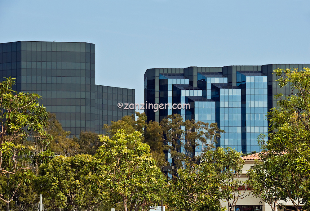 Irvine, California, Glass, Office,  Building, Exterior, reflecting, Light