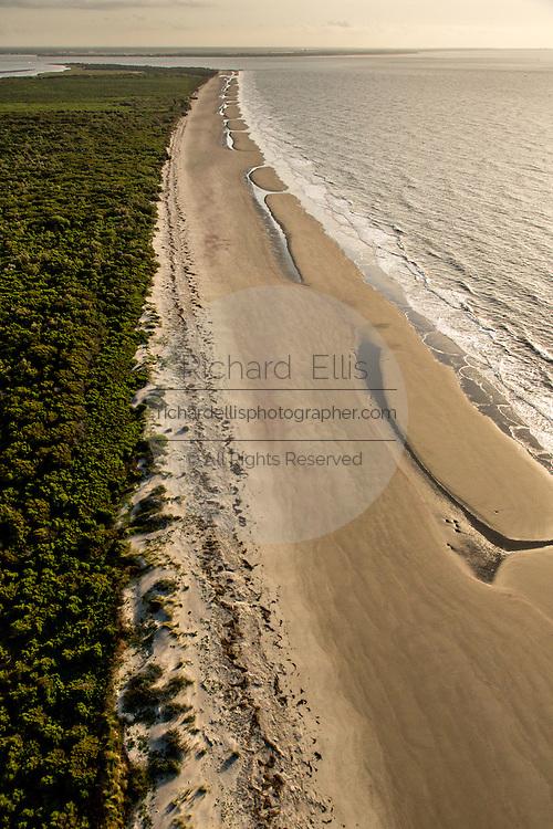 Aerial view of Morris Island, SC.