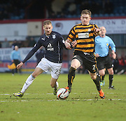 Dundee's Martin Boyle and Alloa Athletic's Michael Doyle - Dundee v Alloa Athletic, SPFL Championship at Dens Park<br /> <br />  - &copy; David Young - www.davidyoungphoto.co.uk - email: davidyoungphoto@gmail.com