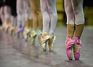 English National Ballet Extra swans rehearsal
