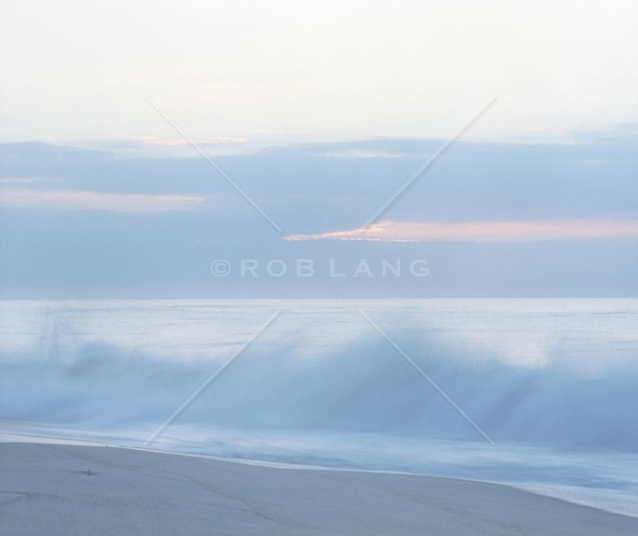 Waves and beach in East Hampton, NY