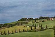 Italy, La Foce - An overall view of Val d'Orcia. The valley has been added in 2004 to the UNESCO list of World Heritage sites.<br /> Ph. Roberto Salomone