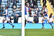 Blackburn Rovers Forward, Danny Graham (12) scores 1-0 goal  during the EFL Sky Bet Championship match between Blackburn Rovers and Aston Villa at Ewood Park, Blackburn, England on 29 April 2017. Photo by Mark Pollitt.