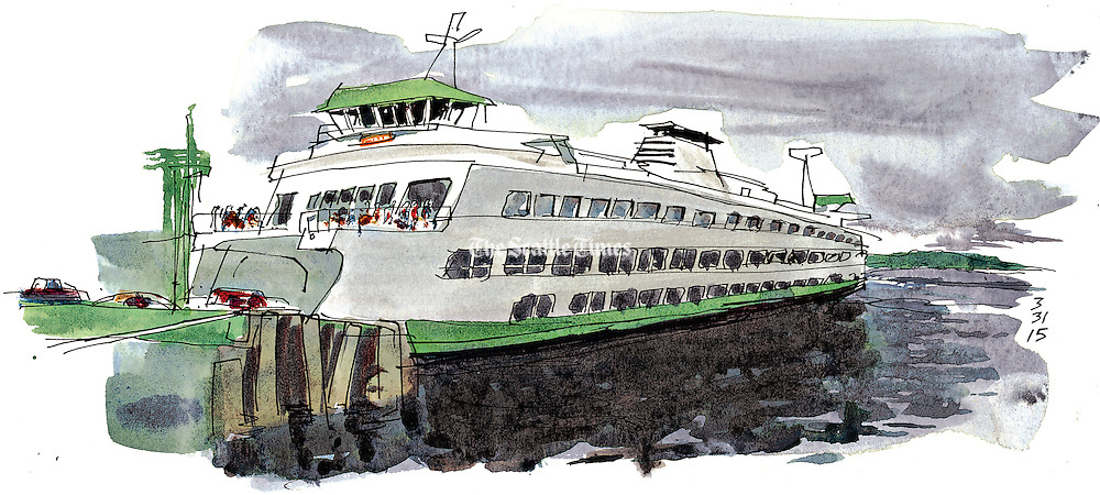 It&rsquo;s all in a day&rsquo;s work for chief mate Scott Freiboth as he navigates a jumbo ferry carrying hundreds of commuters on the Seattle-to-Bainbridge route. <br />