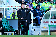 Hibernian manager Neil Lennon reacts to a decision during the Ladbrokes Scottish Premiership match between Hibernian and Celtic at Easter Road, Edinburgh, Scotland on 10 December 2017. Photo by Craig Doyle.