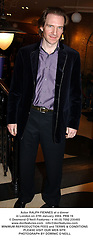 Actor RALPH FIENNES at a dinner in London on 27th January 2004.PRB 19