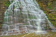 Fifteen Mile Creek ramps over Rockway Falls. Golden Horseshoe. Niagara Peninsula.<br />