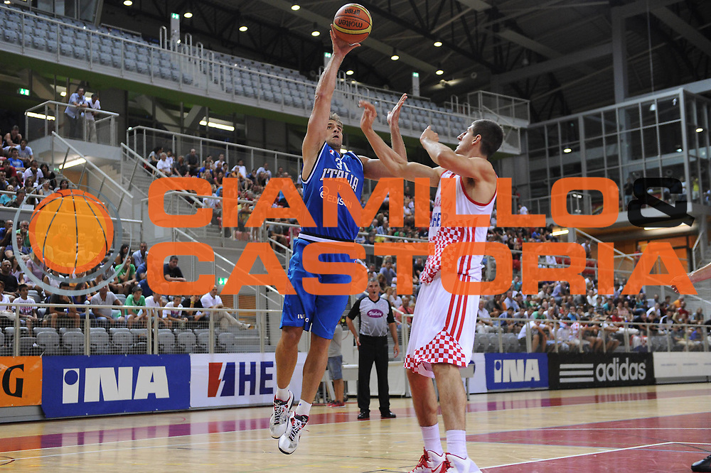 DESCRIZIONE : Porec Amichevole Croazia Italia<br /> GIOCATORE : David Chiotti<br /> CATEGORIA : tiro penetrazione<br /> SQUADRA : Nazionale Italia Maschile<br /> EVENTO : Amichevole Italia Croazia<br /> GARA : Italia Croazia<br /> DATA : 09/08/2012<br /> SPORT : Pallacanestro<br /> AUTORE : Agenzia Ciamillo-Castoria/C.De Massis<br /> Galleria : FIP Nazionali 2012<br /> Fotonotizia : Porec Amichevole Croazia Italia<br /> Predefinita :
