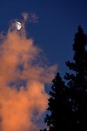 Moon, at sunset.