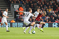 Football - 2018 / 2019 Premier League - AFC Bournemouth vs. Burnley<br /> <br /> Jeff Hendrick of Burnley pushes Bournemouth's David Brooks off the ball during the Premier League match at the Vitality Stadium (Dean Court) Bournemouth  <br /> <br /> COLORSPORT/SHAUN BOGGUST