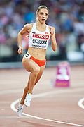 Great Britain, London - 2017 August 13: Angelika Cichocka (SKLA Sopot) of Poland competes in women&rsquo;s 800 meters final during IAAF World Championships London 2017 Day 10 at London Stadium on August 13, 2017 in London, Great Britain.<br /> <br /> Mandatory credit:<br /> Photo by &copy; Adam Nurkiewicz<br /> <br /> Adam Nurkiewicz declares that he has no rights to the image of people at the photographs of his authorship.<br /> <br /> Picture also available in RAW (NEF) or TIFF format on special request.<br /> <br /> Any editorial, commercial or promotional use requires written permission from the author of image.